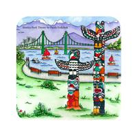 Stanley Park Totems, by Paula Fodchuk