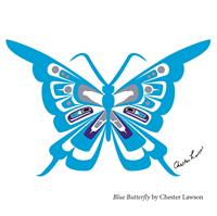 Blue Butterfly, By Chester Lawson