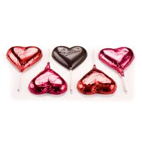 Chocolate Heart Lollipops - Dark Chocolate