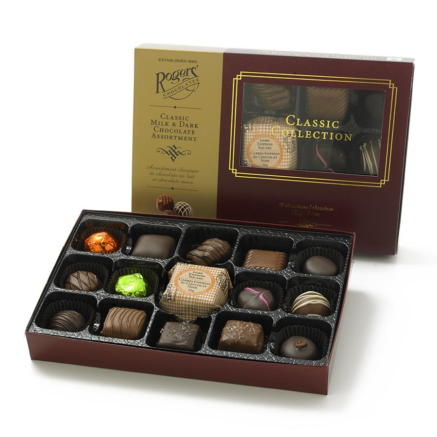 Classic 15 PC Milk & Dark Chocolate Collection